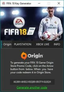 FIFA 18 Serial Key Gennerator